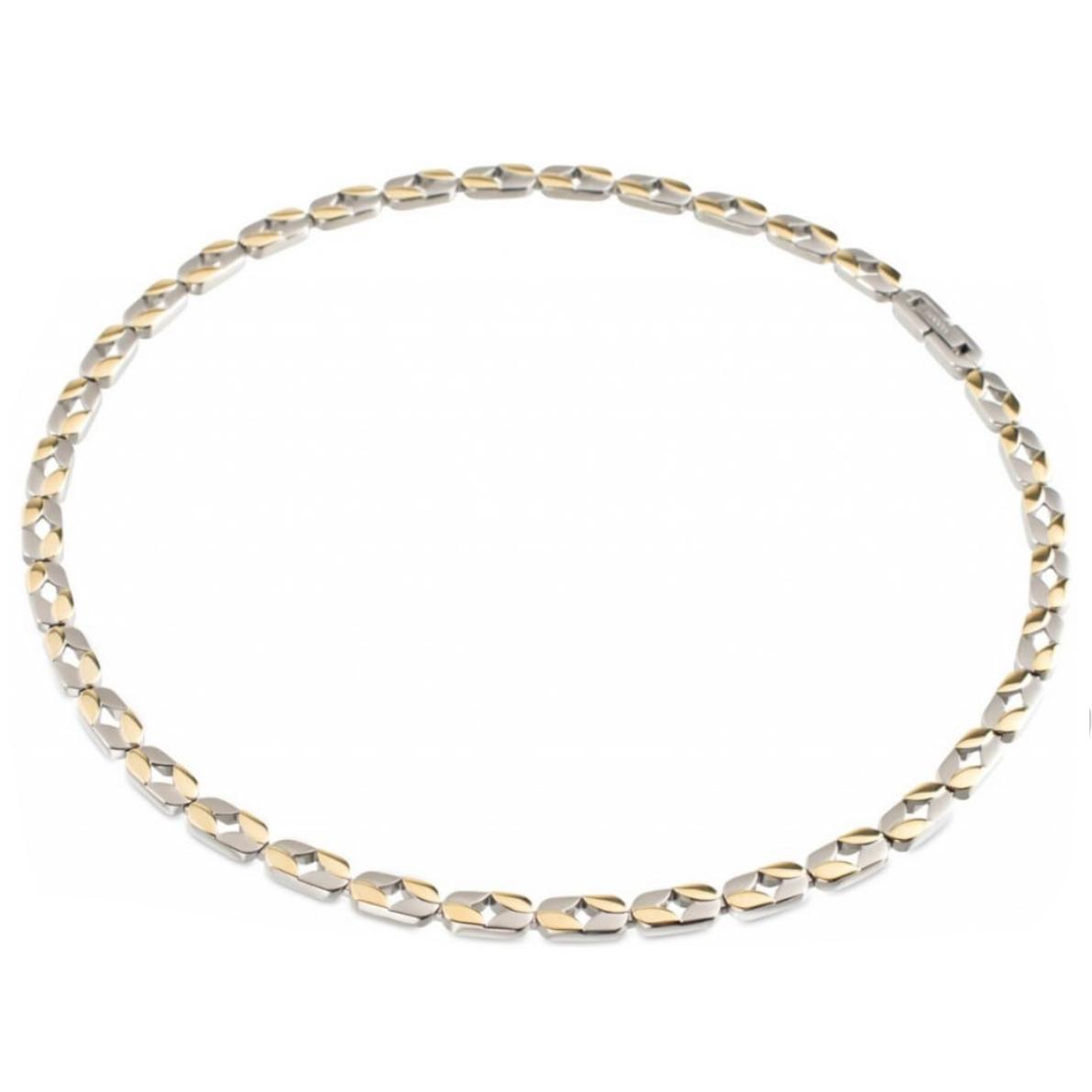Zlacený titanový náhrdelník Boccia B08019-02