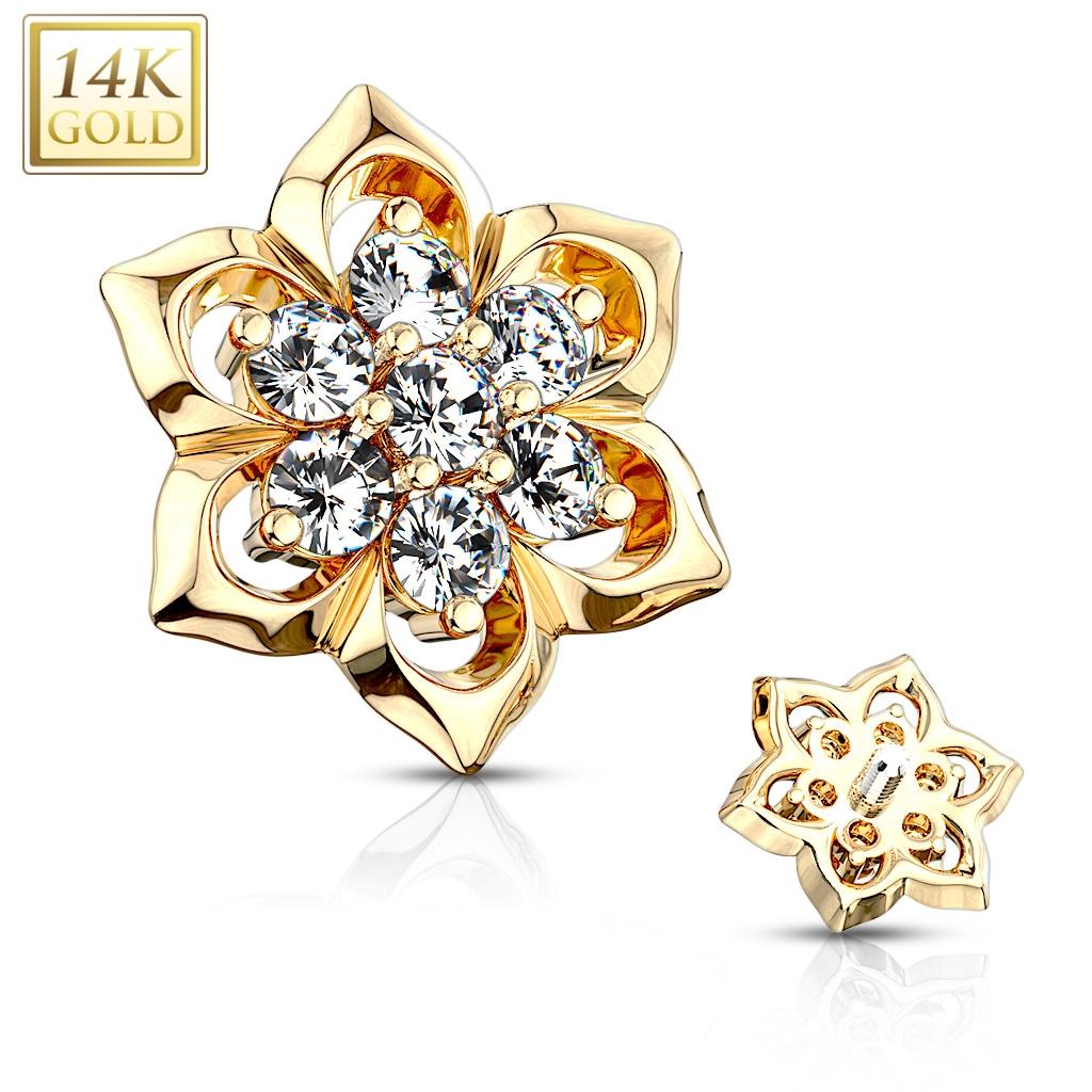 Zlatý piercing - mikrodermál, Au 585/1000 ZL01210-YG