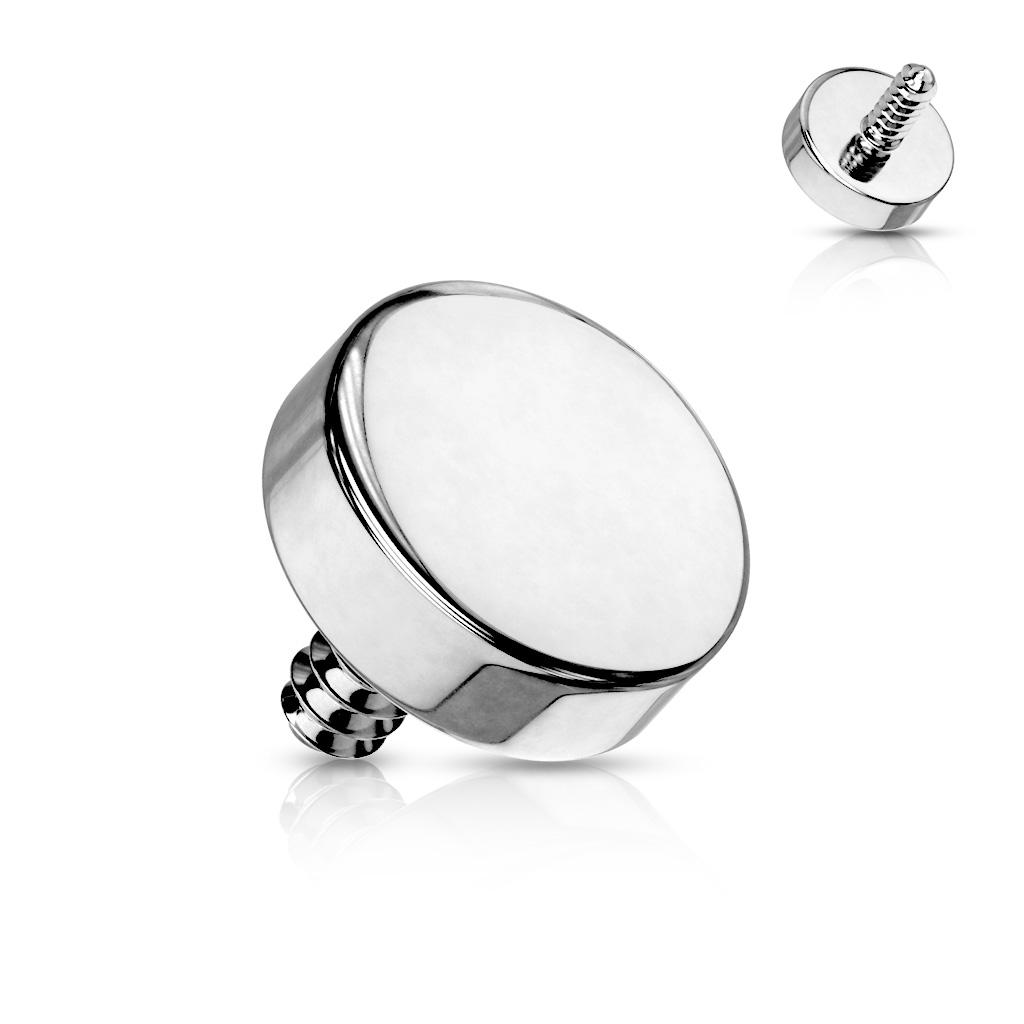 Microdermal piercing placky - ozdobná časť