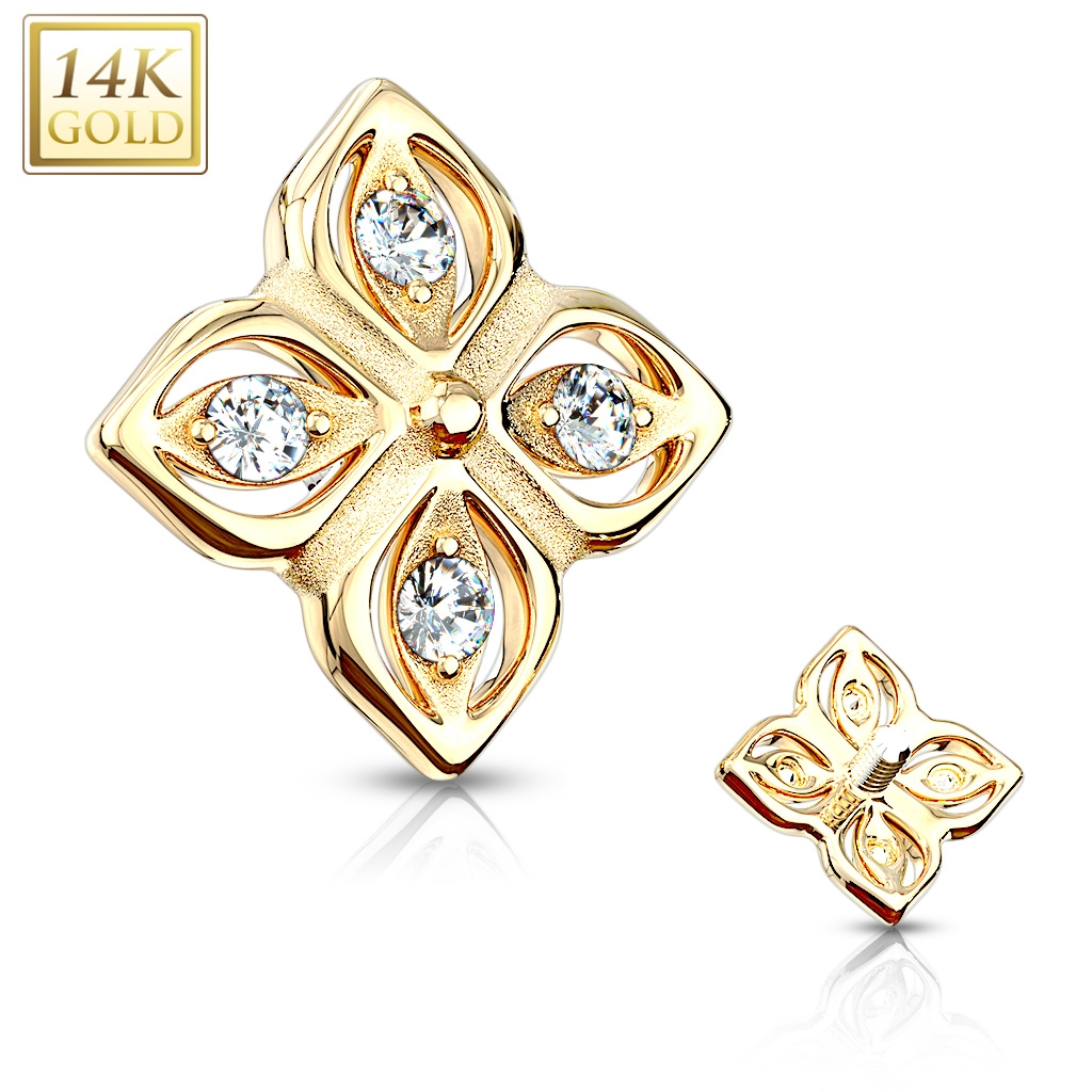Zlatý piercing - mikrodermál, Au 585/1000 ZL01211-YG