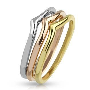 Sada 3kusů prstenů
