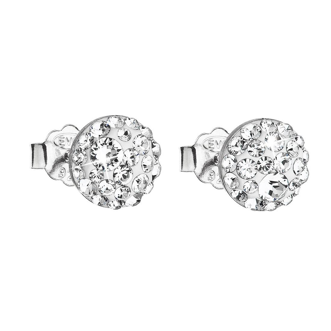 Stříbrné náušnice s krystaly Crystals from Swarovski®, Crystal EG2008-C