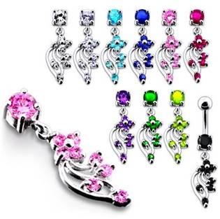 Šperky4U Stříbrný piercing do pupíku - BP01113-A