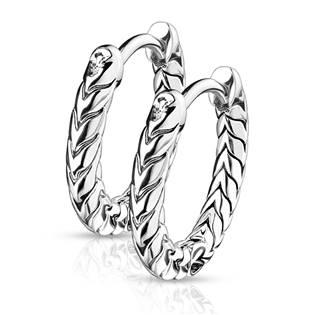 Šperky4U Náušnice kroužky - OPN1668-ST
