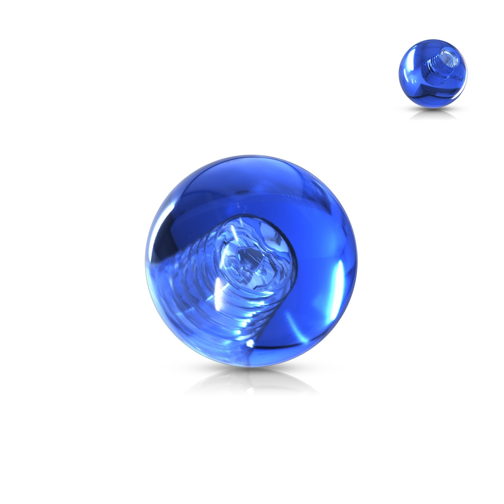 Náhradná gulička 1,2 mm, priemer 3 mm, farba modrá