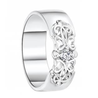 AN1044 Dámský stříbrný snubní prsten