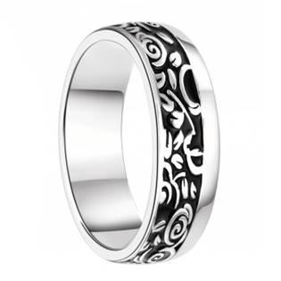 7AE AN1043 Pánský stříbrný snubní prsten - velikost 62 - AN1043-P-62