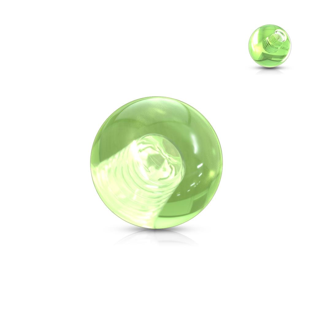 Náhradná gulička 1,6 mm, priemer 5 mm, farba zelená