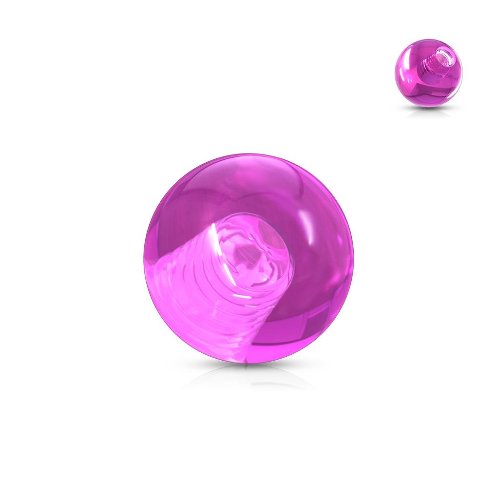 Náhradná gulička 1,6 mm, priemer 6 mm, farba fialová