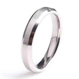 Ocelový prsten, šíře 4 mm