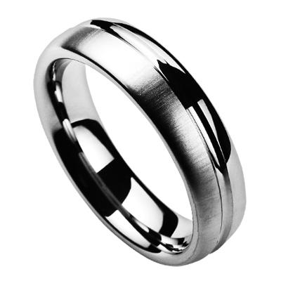 Prsteň volfrám, šírka 6 mm, veľ. 52
