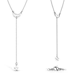 """Ocelový náhrdelník """"měsíc a hvězda"""""""