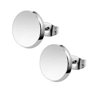 OPN1153-10 Ocelové náušnice kolečka, 10 mm