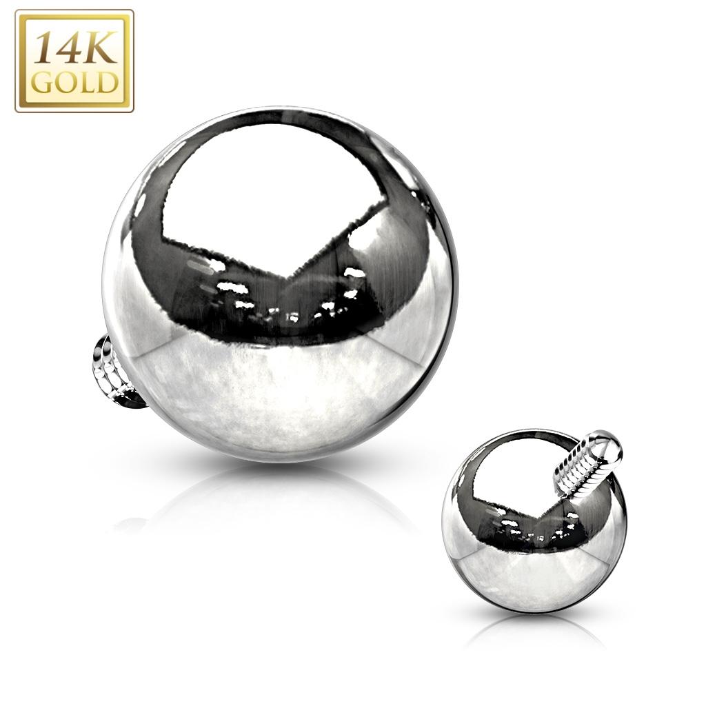 Zlatý piercing - mikrodermál kulička, Au 585/1000 ZL01212-WG