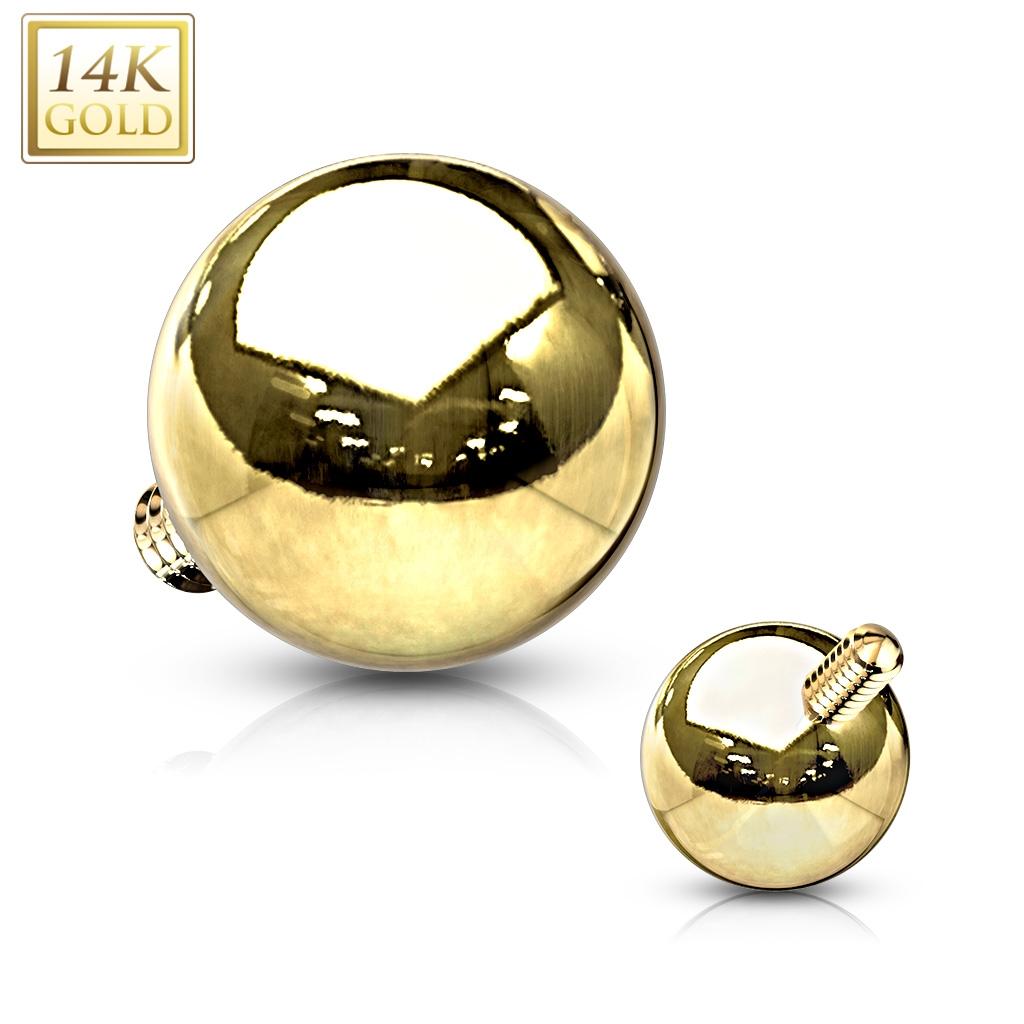 Zlatý piercing - mikrodermál kulička, Au 585/1000 ZL01212-YG