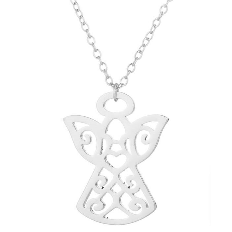 Postriebrený náhrdelník - anjelíček