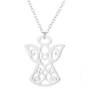 Stříbřený náhrdelník - andělíček