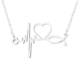 Stříbřený náhrdelník - heart beat