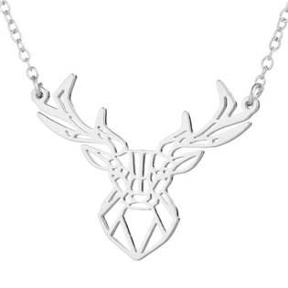 Stříbřený náhrdelník - jelen
