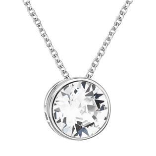 Stříbrný náhrdelník s kulatým kamenem Crystals from Swarovski