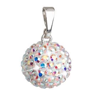 Stříbrný přívěšek s kulička Crystals from Swarovski® AB