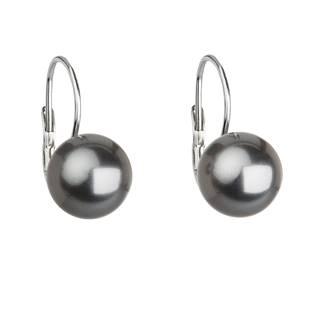 Stříbrné náušnice s perlami Crystals from Swarovski®