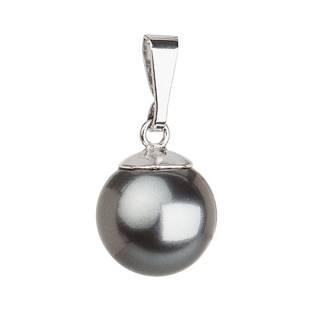 Stříbrný přívěsek dekorovaný perlou Crystals from Swarovski