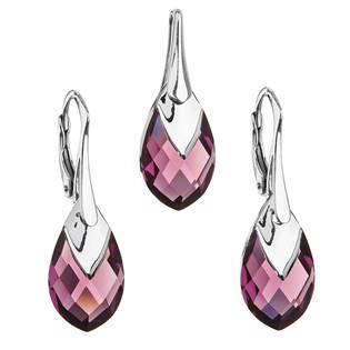 EVOLUTION GROUP CZ Souprava stříbrných šperků kameny s Crystals from Swarovski® AMETHYST - 39169.4 amethyst