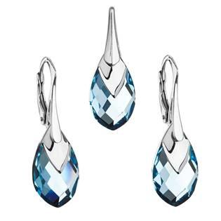 EVOLUTION GROUP CZ Souprava stříbrných šperků kameny s Crystals from Swarovski® AQUA - 39169.4 aqua