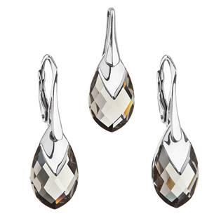 Souprava stříbrných šperků kameny s Crystals from Swarovski® BLACK DIAMOND