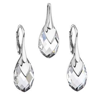 EVOLUTION GROUP CZ Souprava stříbrných šperků kameny s Crystals from Swarovski® CRYSTAL - 39169.4 crystal