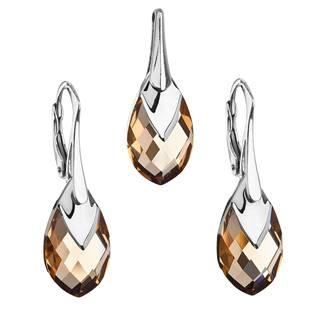 EVOLUTION GROUP CZ Souprava stříbrných šperků kameny s Crystals from Swarovski® LIGHT COLORADO - 39169.4 light colorado