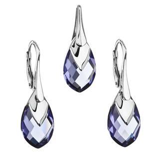 EVOLUTION GROUP CZ Souprava stříbrných šperků kameny s Crystals from Swarovski® TANZANITE - 39169.4 tanzanite