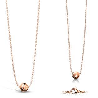 Zlacený ocelový náhrdelník s kuličkou