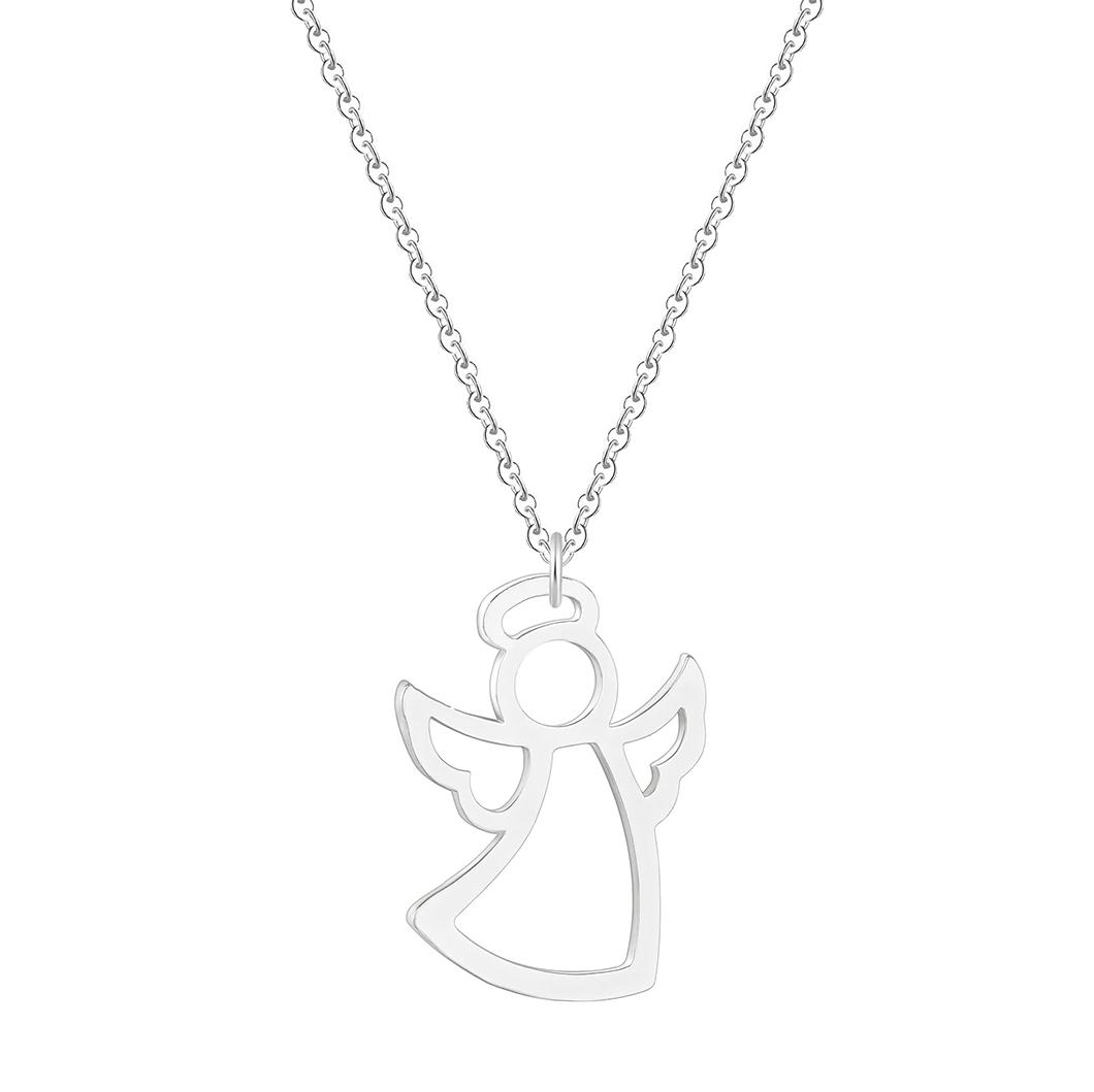 Postriebrený náhrdelník anjelik