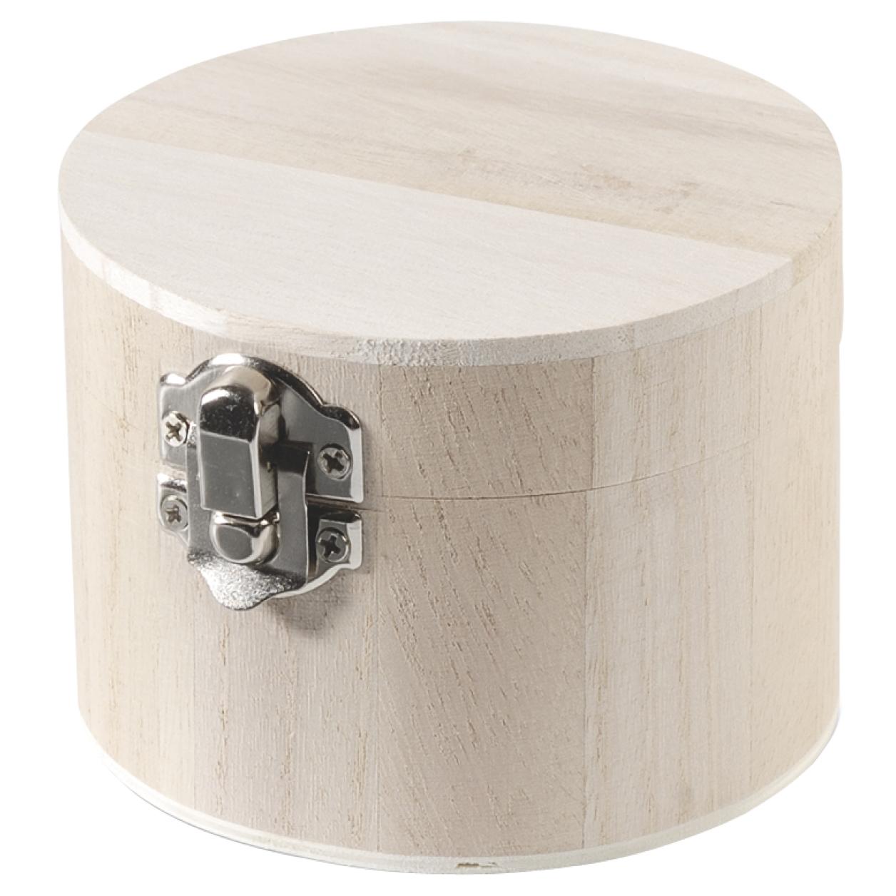 Okrúhla drevená krabička