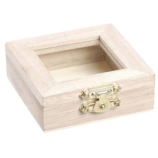 Dřevěná krabička s proskleným víčkem
