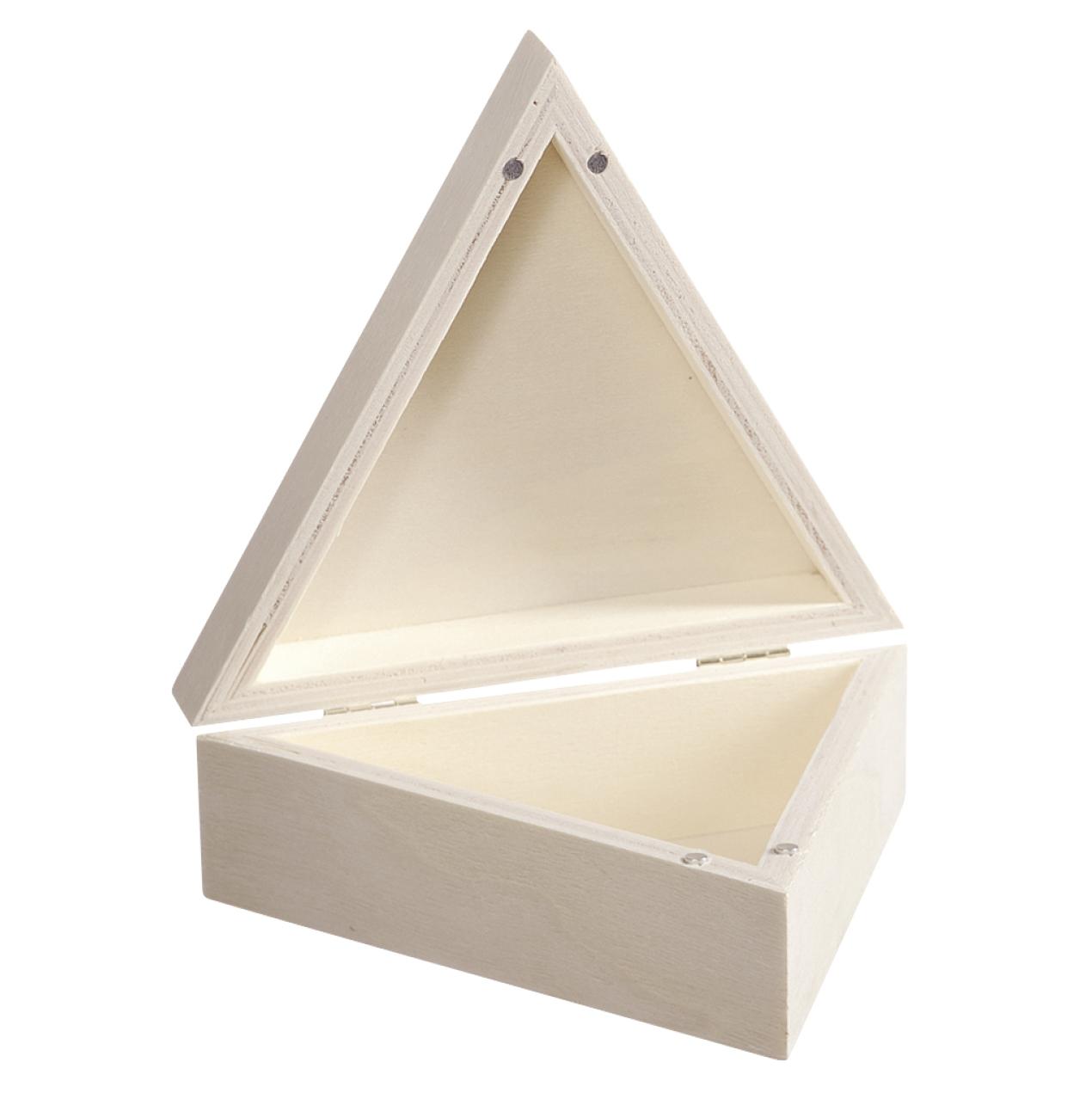 Drevená krabička trojuholník