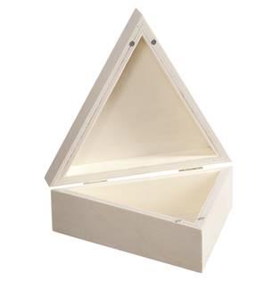 Dřevěná krabička trojúhelník