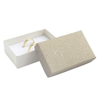 KR0069-BG Dárková krabička na snubní prsteny, stříbřitě béžová