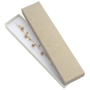 Dárková krabička na náramek, stříbřitě béžová