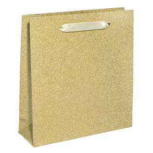 Šperky4U Papírová dárková taška zlatá - KR1024-GD