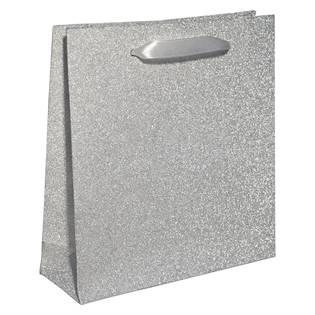 Papírová dárková taška stříbrná