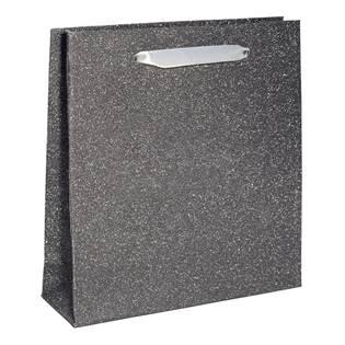 Papírová dárková taška stříbřitě šedá