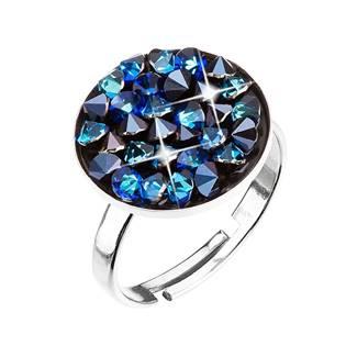 Stříbrný prsten ROCKS Crystals from Swarovski® BERMUDA BLUE