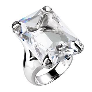 Stříbrný prsten Crystals from Swarovski®, vel: 54