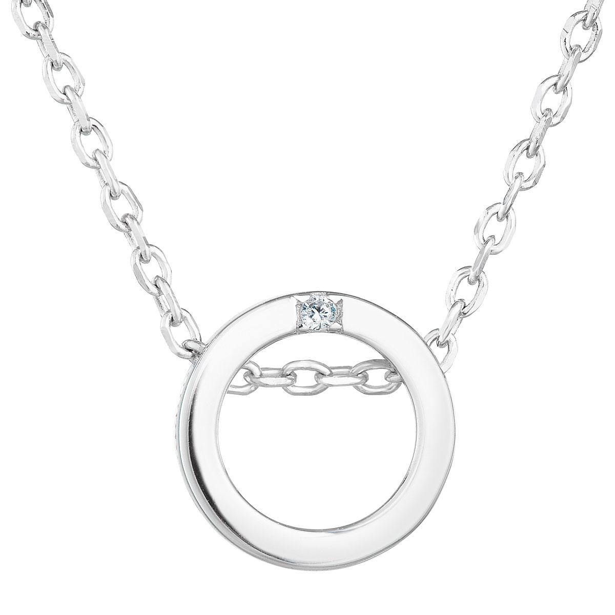 Stříbrný náhrdelník se zirkonem EG4235