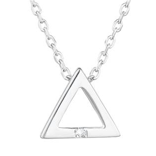 Stříbrný náhrdelník trojúhelník se zirkonem