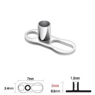 Microdermal base - kotva, výška 2 mm