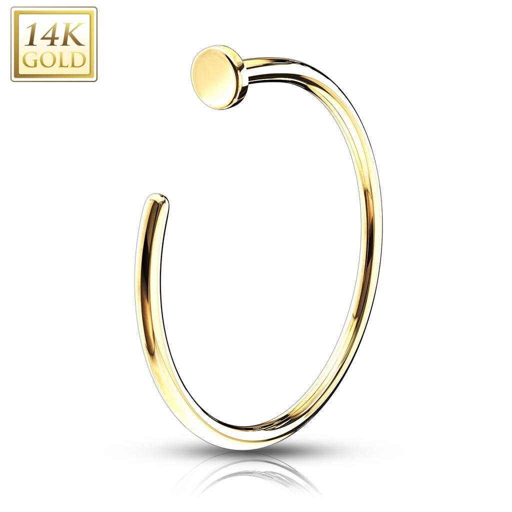 Zlatý piercing do nosu kruh, Au 585/1000 ZL01040-0808-YG